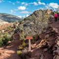 There are a few switchbacks, but the trail is not too strenuous.- Desert Voices Trail