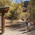 The trailhead to Fifth Water Hot Springs.- Fifth Water Hot Springs