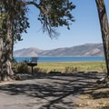 Car camping sites near the lake.- Rendezvous Beach Campground
