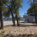 The rental shack and beach grill.- Rendezvous Beach Campground