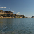 Horsethief Lake and Horsethief Butte from the park's day use area.- Columbia Hills Historical State Park