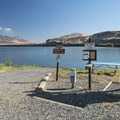 Boat ramp access for Horsethief Lake.- Columbia Hills Historical State Park