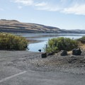 Boat ramp access to the Columbia River at Columbia Hills Historical State Park.- Columbia Hills Historical State Park