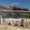 Pioneer cemetery at Columbia Hills Historical State Park.- Columbia Hills Historical State Park