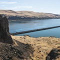 View of the Columbia River from Horsethief Butte.- Horsethief Butte Hike + Rock Climbing Area