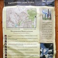 Cathedral Lake Trail information.- Cathedral Lake Trail