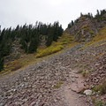 Beginning the steep switchback section. - Cathedral Lake Trail