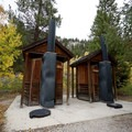 Vault toilets.- Parry Peak Campground