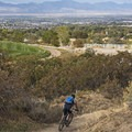 The city of Draper below.- Corner Canyon Trail System