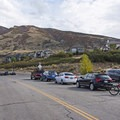 Lots of parking at the Lower Corner Canyon Trailhead.- Corner Canyon Trail System