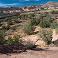 A nice slickrock feature before you get to the Colorado.- Kokopelli Loops Mountain Bike Trails: Horsethief Bench