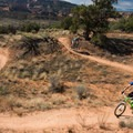 The beautiful S curve at Horsethief.- Kokopelli Loops Mountain Bike Trails: Horsethief Bench