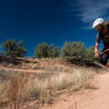 The tracks here are full of sandy patches, so watch your traction.- Kokopelli Loops Mountain Bike Trails: Horsethief Bench