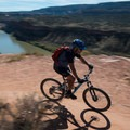 The Colorado River sprawls out below Horsethief Bench.- Kokopelli Loops Mountain Bike Trails: Horsethief Bench