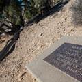 Mary's dedication plaque.- Kokopelli Loops Mountain Bike Trails: Mary's Loop