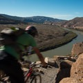 Grand views of the Colorado River from the final section of trail.- Kokopelli Loops Mountain Bike Trails: Mary's Loop