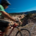 The trail comes right up to the canyon edge in some places.- Kokopelli Loops Mountain Bike Trails: Mary's Loop