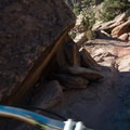 A few tricky rock obstacles hide in the canyon crevices.- Kokopelli Loops Mountain Bike Trails: Mary's Loop
