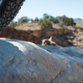 At the start of the trail there are a few decently sized obstacles to clear.- Kokopelli Loops Mountain Bike Trails: Steve's Loop