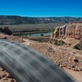 The trail gets very close to the canyon rim at times.- Kokopelli Loops Mountain Bike Trails: Steve's Loop