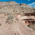 The vast canyons spread out below Steve's Loop.- Kokopelli Loops Mountain Bike Trails: Steve's Loop