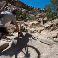 Quick hike-a-bike section in the middle of the ride.- Kokopelli Loops Mountain Bike Trails: Steve's Loop