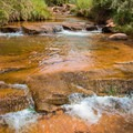 The babbling riffles and pools of Mill Creek.- Mill Creek Swimming Holes