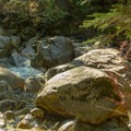 This creek crossing can be dangerous with wet weather.- Elsay Lake Hiking Trail