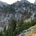 The back side of Seymour's Peaks.- Elsay Lake Hiking Trail