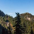 Mount Seymour and Mount Elsay.- Elsay Lake Hiking Trail