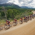The USA Pro Challenge cycling race heads over Kebler Pass. - Kebler Pass Scenic Road