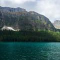 Panorama of Boom Lake.- Boom Lake Hike