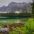Boom Lake in Banff National Park.- Boom Lake Hike
