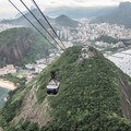 Looking back over Rio from near the top of the cableway. - Sugarloaf Mountain