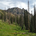 Early meadows and mountain views.- Zirkel Circle Hike