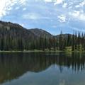 Looking southeast across Gold Creek Lake.- Zirkel Circle Hike