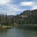 Looking northeast across Gold Creek Lake.- Zirkel Circle Hike