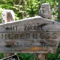 Entering the Mount Zirkel Wilderness.- Zirkel Circle Hike