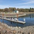 Boat ramp and dock at Netarts Bay Landing.- Netarts Bay Landing