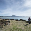 Picnic area at Netarts Bay Landing.- Netarts Bay Landing
