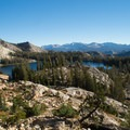 Looking back on May Lake.- Mount Hoffmann Hike