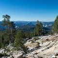 Southern view toward Half Dome.- Mount Hoffmann Hike