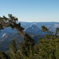 Half Dome from the trail to Mount Hoffman.- Mount Hoffmann Hike