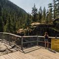 The Nairn Falls viewing platform.- Nairn Falls Hike