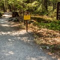 The Nairn Falls Trailhead at the day use area.- Nairn Falls Hike