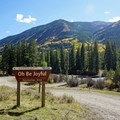 The road to Oh Be Joyful Campground.- Oh Be Joyful Campground