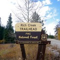 Rich Creek Trailhead.- Rich Creek + Rough and Tumbling Creek Hiking Loop