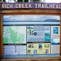 Trail information.- Rich Creek + Rough and Tumbling Creek Hiking Loop