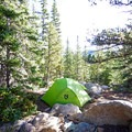Backcountry camping.- Rich Creek + Rough and Tumbling Creek Hiking Loop