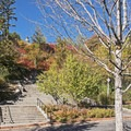 The stairs up to the Capitol parking area.- City Creek Canyon Road Cycling